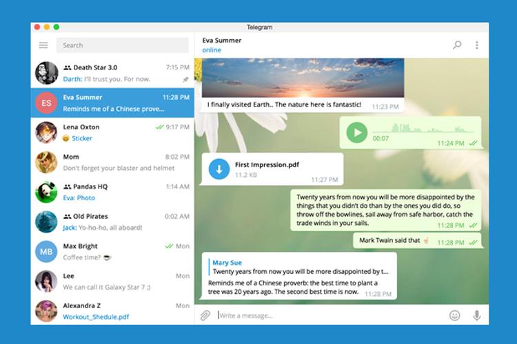 آپدیت تلگرام دسکتاپ